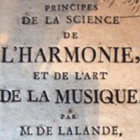 Jérôme de La Lande, Principes de la science de l'harmonie et de l'art de la musique