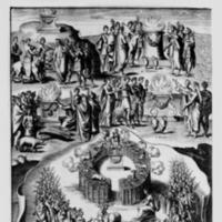 Mythologie, Paris, 1627 - I. Figure, Où sont dépeints divers sacrifices, faicts à Neptune, à Jupiter, à Bacchus, à Cérés, et à Diane, n.p.