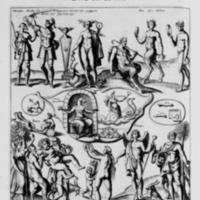 Mythologie, Paris, 1627 - V. Figure, Representant Mercure, Pan, les Satyres, Bacchus, Sylène, les Bacchantes, Cérès, & Priape Dieu des jardins, p. 396