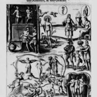 Mythologie, Paris, 1627 - IV. Figure, Où se voyent les Tableaux des Pénates, d'Apollon, d'Esculape, de la Fortune, & des Grâces, p. 270