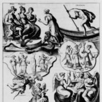 Mythologie, Paris, 1627 - III. Figure, Qui contient generalement tout ce que les poëtes ont feint de l'Enfer, des Parques et des Furies, p. 176